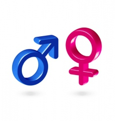 male and female gender symbol vector image vector image