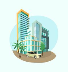 modern cityscape architecture city vector image