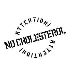 No cholesterol rubber stamp vector
