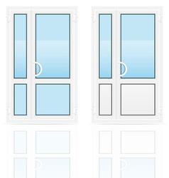 plastic doors 02 vector image vector image