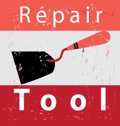 Retro poster repair vector