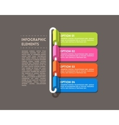 Rolled infographics options banner vector image