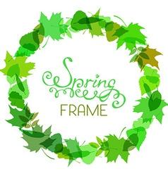 Round spring frame vector image