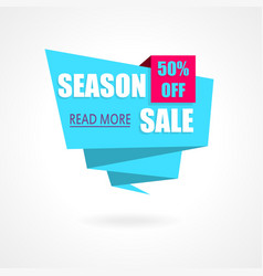 Season sale weekend special offer poster banner vector