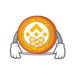 Silent binance coin mascot catoon vector