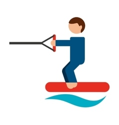 Ski water isolated icon design vector