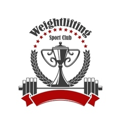 Weightlifting sport club icon vector