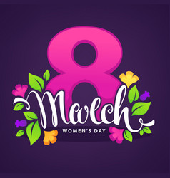 women day greeting card design vector image vector image