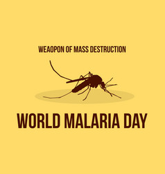 World malaria day collection vector