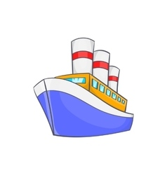 Ship icon in cartoon style vector