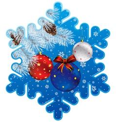 Ny snowflake vector