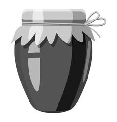 Jar icon gray monochrome style vector image