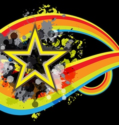Abstract star retro banner design vector