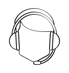 Operator man with headphone design vector