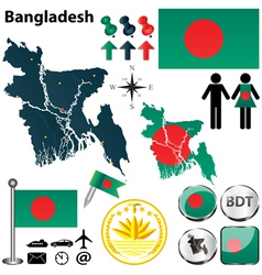 Map of bangladesh vector
