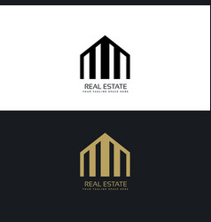 Creative real estate logo design concept vector