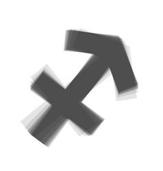 Sagittarius sign   gray icon vector
