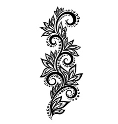 Floral design element effect of lace eyelets vector