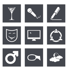 Icons for web design set 21 vector