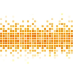 Abstract yellow pixel background vector image