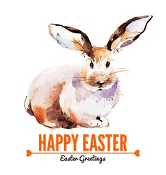 Card with sketch Easter rabbit vector image
