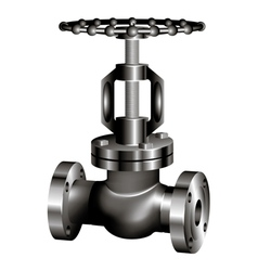 Gray industrial valve vector