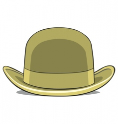 illustration of one hat derby vector image