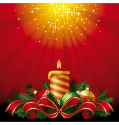 greeting card with a candle vector image