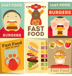 Fast food posters vector