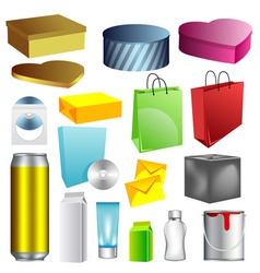 Blank packaging templates vector