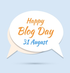 Happy blog day icon on blue background vector