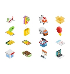 Isometric sale icons set vector