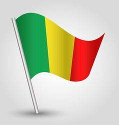 Malian flag on pole vector