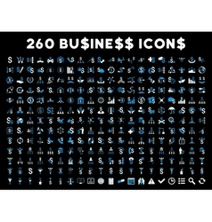 260 flat business icons vector