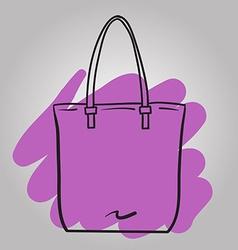 Woman handbag hand drawn fashion vector image