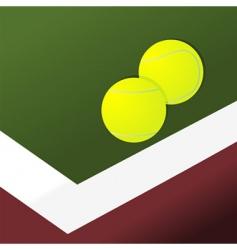 tennis balls on court vector image