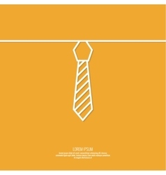 Neck tie with stripes vector
