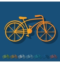 Flat design bicycle vector
