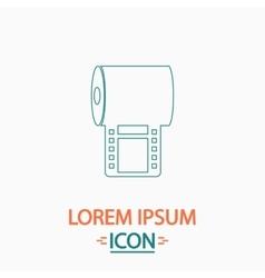 Film strip computer symbol vector