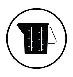 Measure glass icon vector