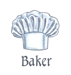 Baker hat sketch icon vector