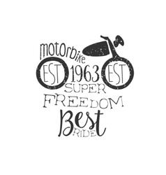 Best motorbike club vintage emblem vector