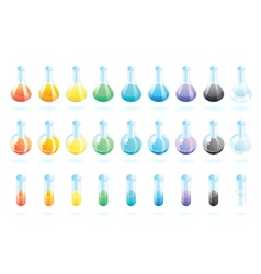 Chemical glass vector image vector image