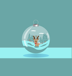 christmas theme with a shiny christmas ball vector image