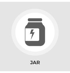 Jar flat icon vector image vector image