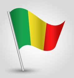 malian flag on pole vector image