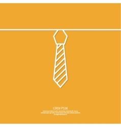 Neck tie with stripes vector