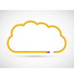 Pencil in the form of clouds for presentations or vector