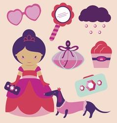 Princess cartoons vector