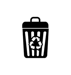 Recycle trash can vector